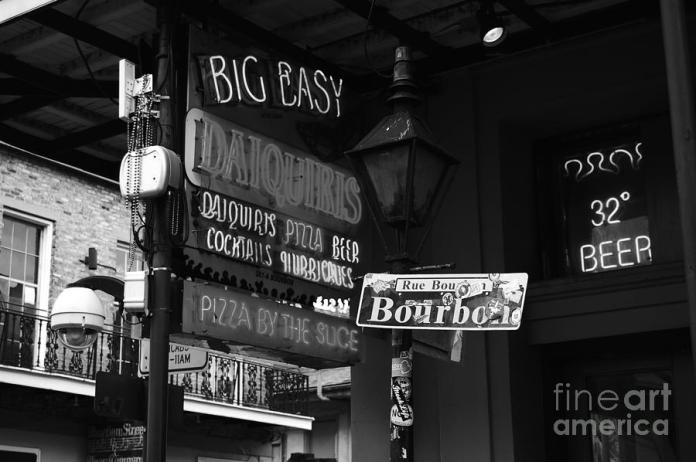 neon-sign-on-bourbon-street-corner-french-quarter-new-orleans-black-and-white-shawn-obrien